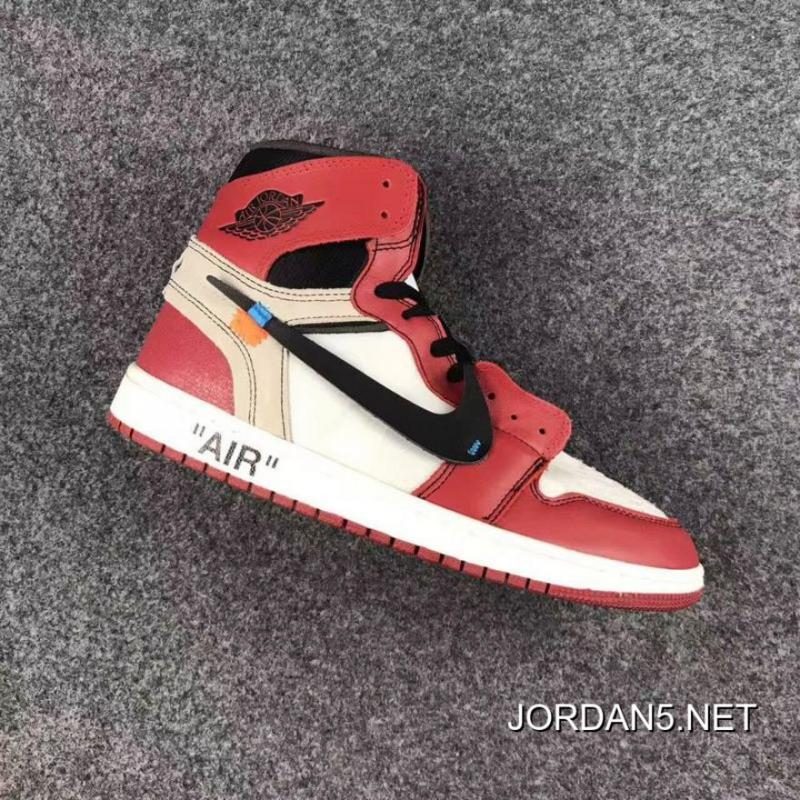 "finest selection a0352 a692a OFF-WHITE X Air Jordan 1 High OG ""The Ten"" White/Black-Varsity Red New  Release"