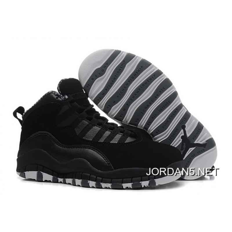 low priced 571be ce13f New Release Air Jordan 10 Retro Black/White-Stealth