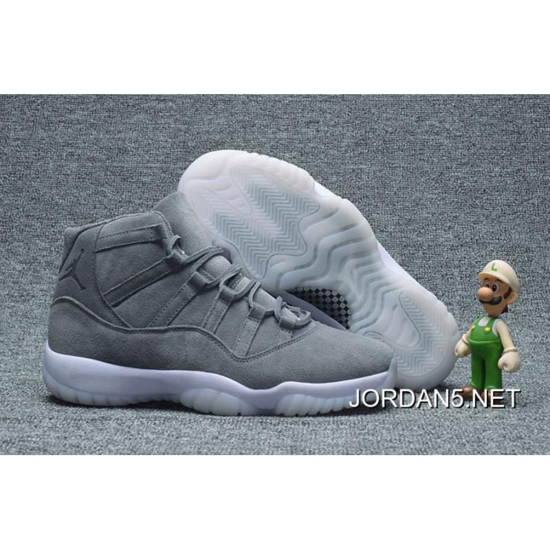 super popular 2fc45 de1a4 Air Jordan 11 Cool Grey Suede Top Deals