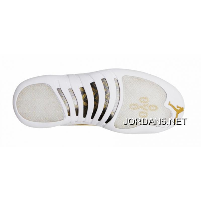 9d4df1e86bbf ... sweden air jordan 12 ovo white metallic gold white authentic 19eb1 1b63b