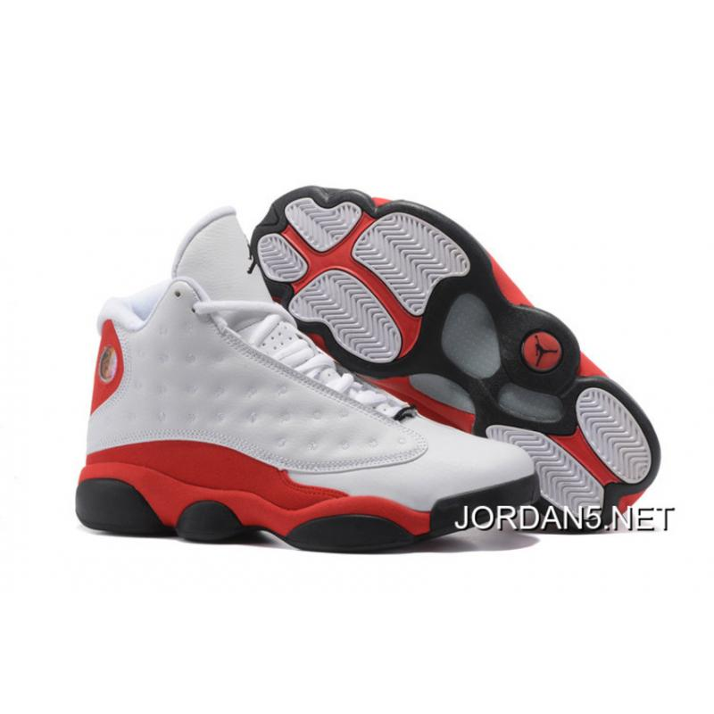 "Discount Air Jordan 13 ""Chicago"" White"