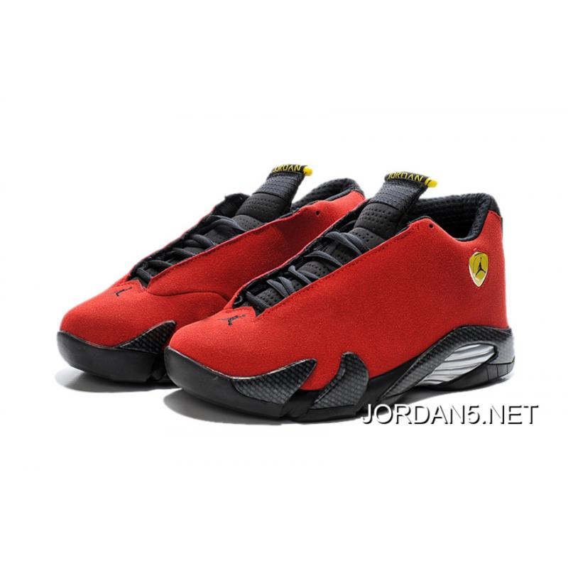 99249f06a5c2 ... where to buy air jordan 14 ferrari chilling red black vibrant yellow  new release 475d5 e1237