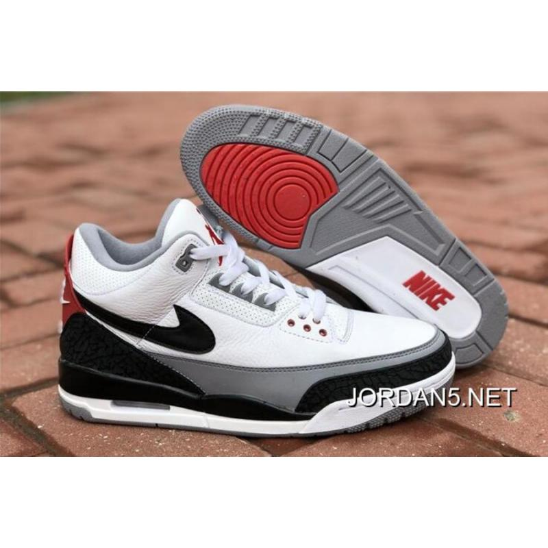 "buy online 025d2 f3d41 Air Jordan 3 NRG ""Tinker"" White/Fire Red/Cement Grey-Black Best"