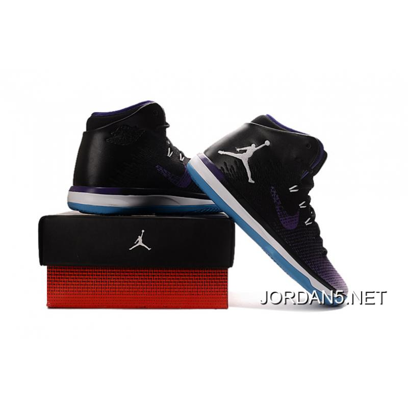ede35c97857a78 Air Jordan XXX1 Black Purple White Blue Basketball Shoes New Style .