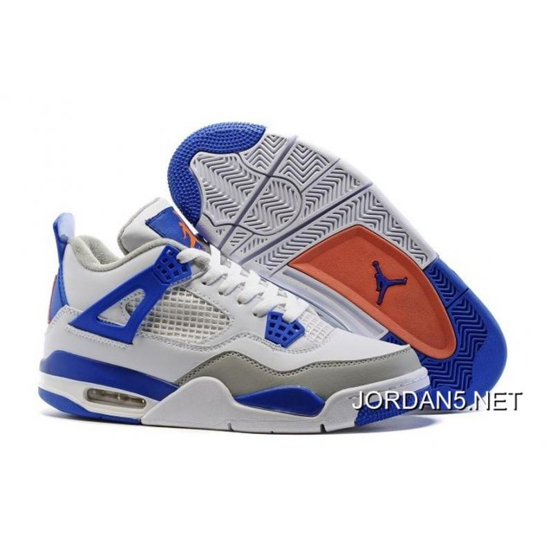 super popular 7ea53 0aa0c ... good air jordan 4 knicks white hyper orange deep royal blue wolf dbd37  43c59 ...