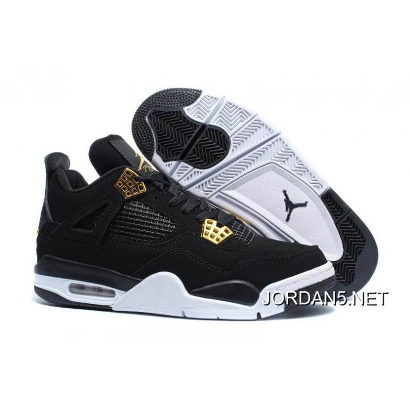 "speical offer retail prices most popular Air Jordan 4 ""Royalty"" Black/Metallic Gold-White New Release ..."
