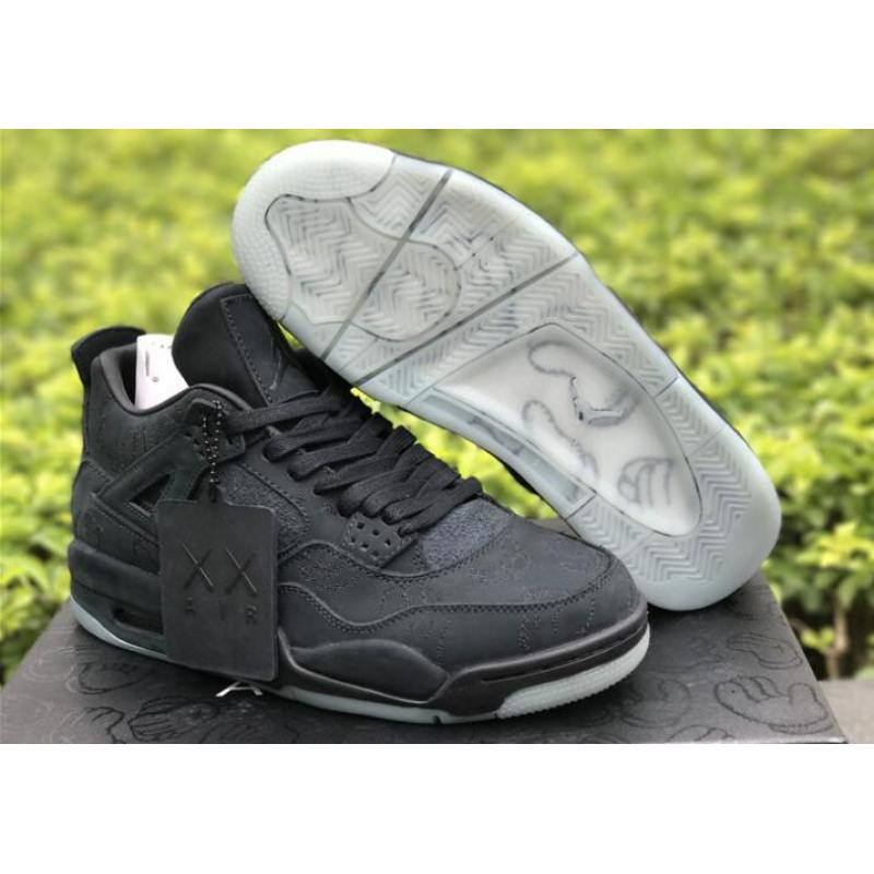 "pretty nice 4b444 f8a43 Best KAWS X Air Jordan 4 ""Black"" Glow In The Dark"
