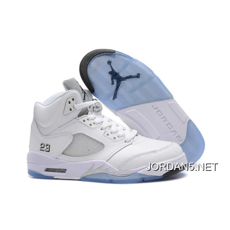 low priced a16ac a7c41 Discount Air Jordan 5 White/Metallic Silver