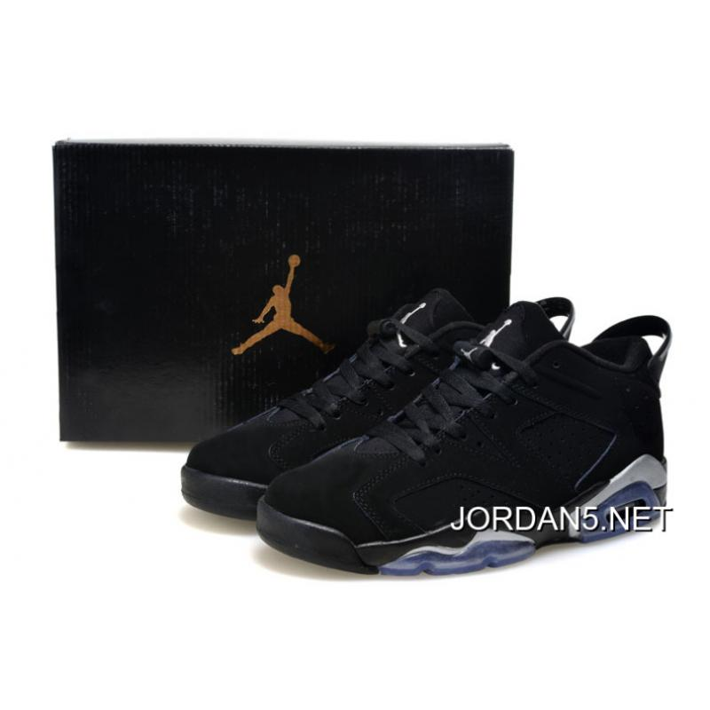 "5b031b7814b Air Jordan 6 Low ""Black/Metallic Silver"" New Release, Price: $87.03 ..."