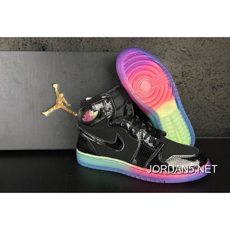"b57f689f8e9 Air Jordan 1 High GS ""Rainbow Sole"" For Sale, Price: $87.47 - Jordan ..."