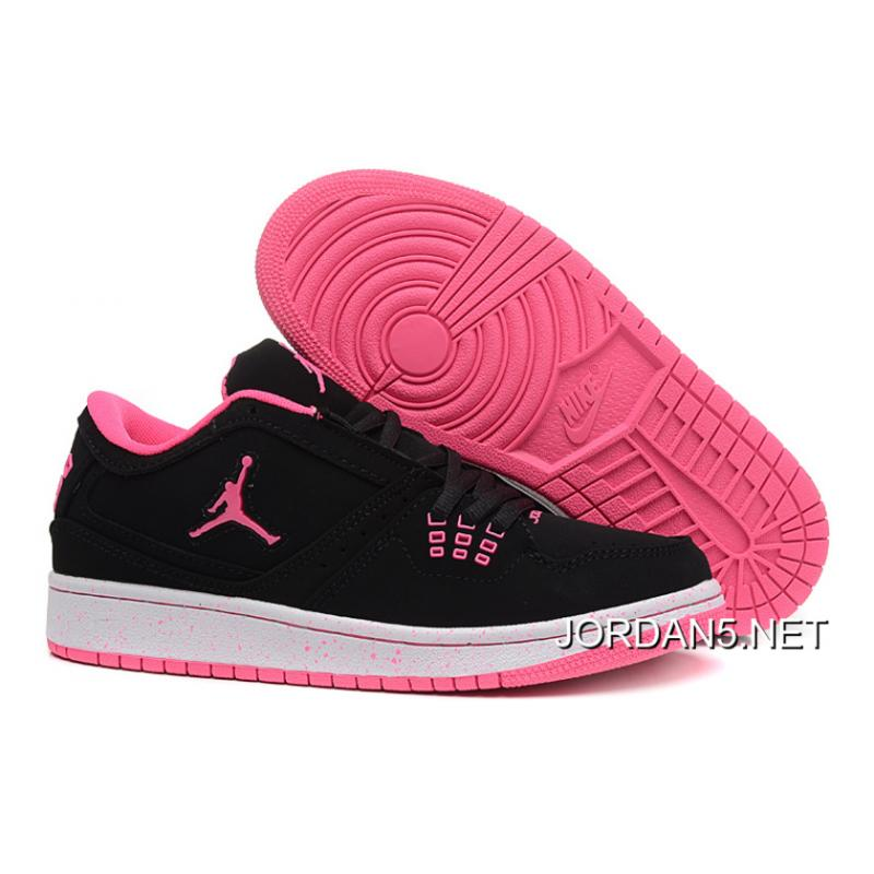 f54ac679088 get air jordan 1 gg black pink detailed photos sneakernews d5980 f7a7e  get  air jordan 1 low gs black pink latest c9b65 d3590