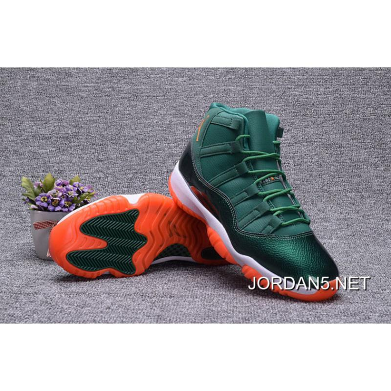 "Cheap To Buy Air Jordan 11 GS ""Miami Hurricane"" PE Girl Size, Price ..."