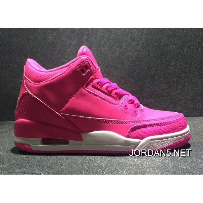 "9d4ebe462cda99 For Sale Air Jordan 3 GS ""Vivid Pink"" ..."