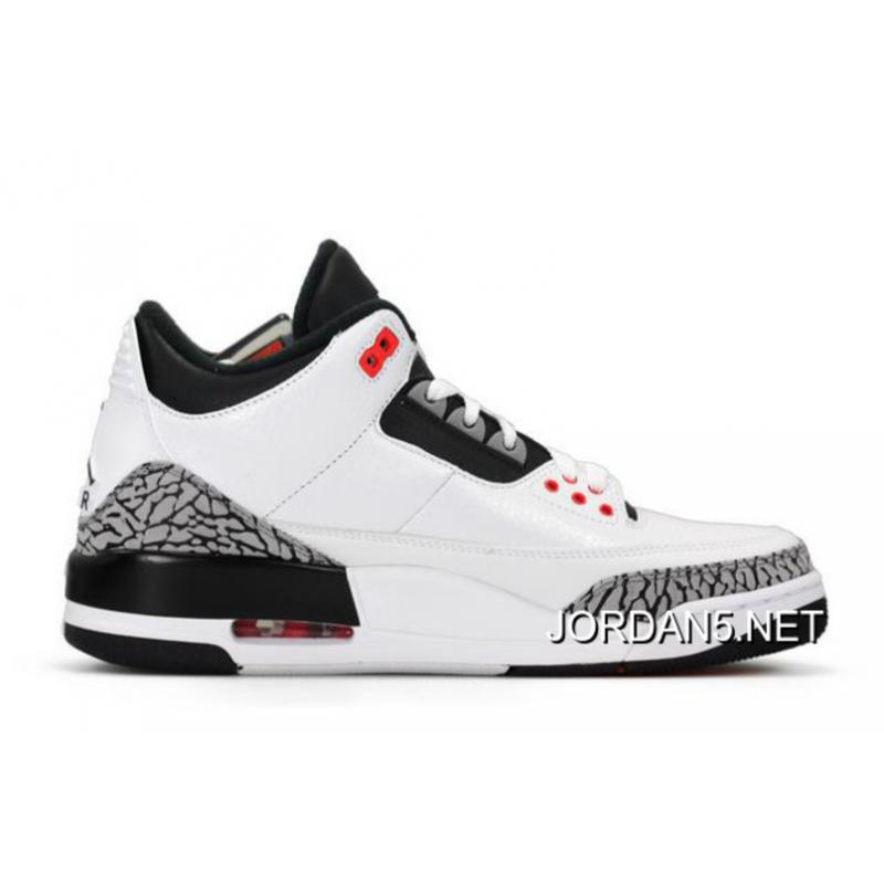 release date ea1c8 88f27 Air Jordan 3 Retro White/Black-Wolf Grey-Infrared 23 New Style