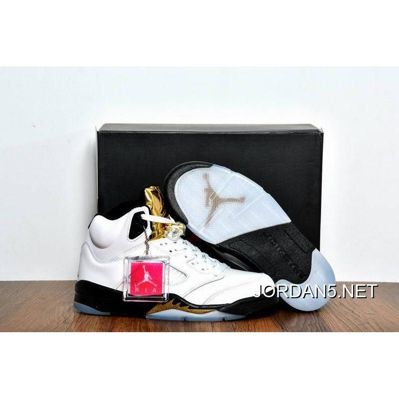 cheap to buy air jordan 5 olympic gold medal white black metallic