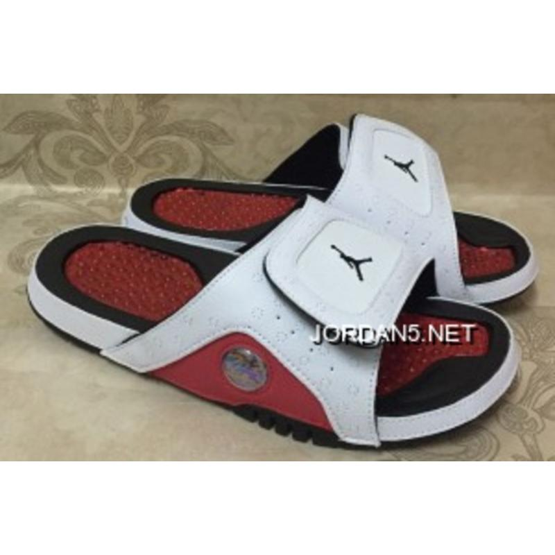 low priced 501d1 4eac7 Latest Jordan Hydro 13 Retro White Red Black Slide Sandals ...