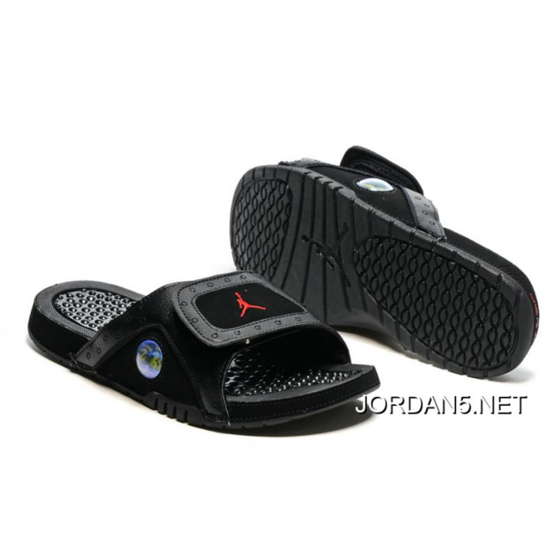 pretty nice a96c7 4abce Jordan Hydro 13 Slide Sandals Black Gym Red For Sale ...