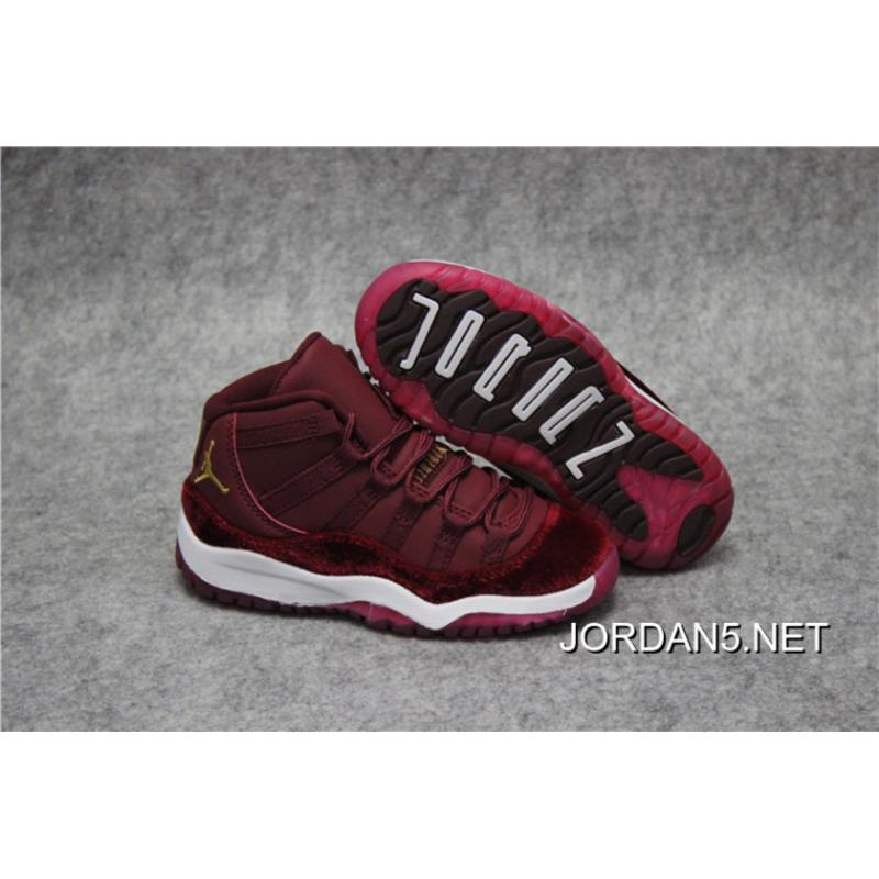 "Kids Air Jordan 11 ""Red Velvet"" Latest ..."