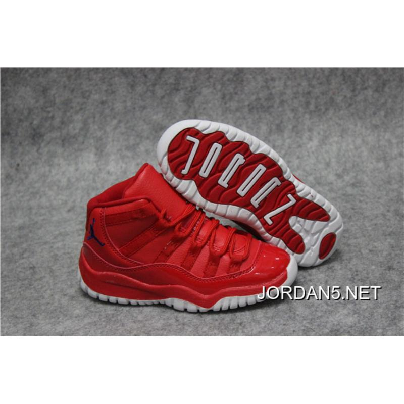 finest selection 9561c 8fc26 coupon code for new release kids air jordan 11 red white e930f ab927