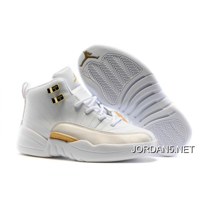 "Online Kids Air Jordan 12 ""OVO White"" ..."