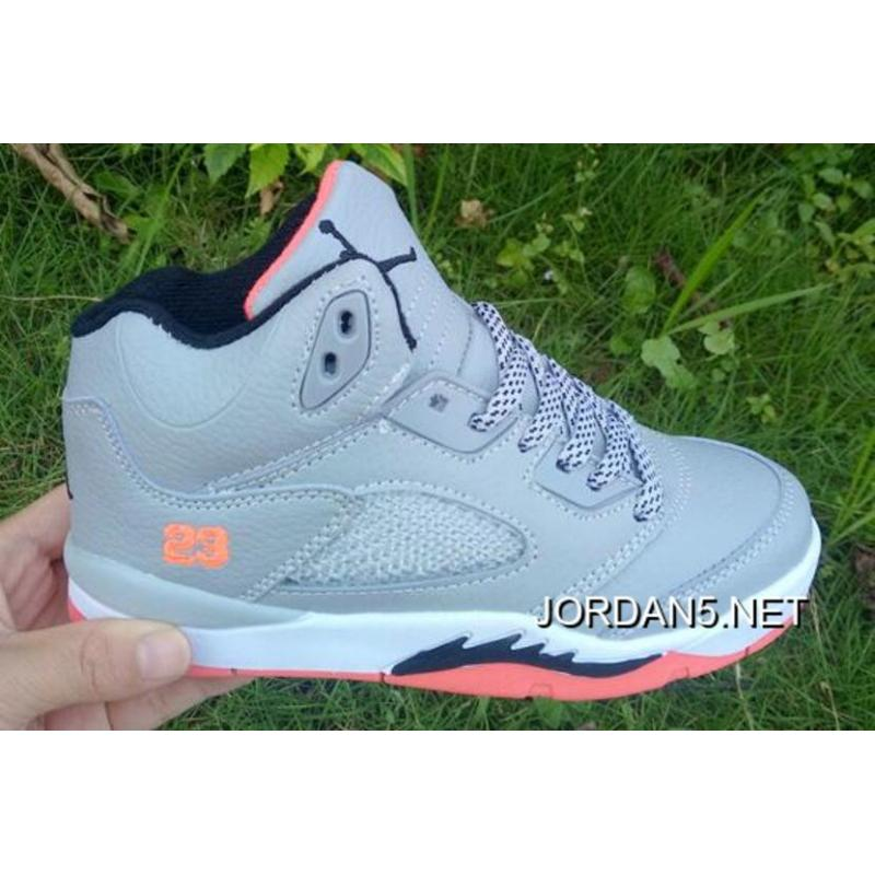 "watch 3e6b3 ee0ad Online Kids Air Jordan 5 ""Hot Lava"" Wolf Grey/Hot Lava/White/Black"