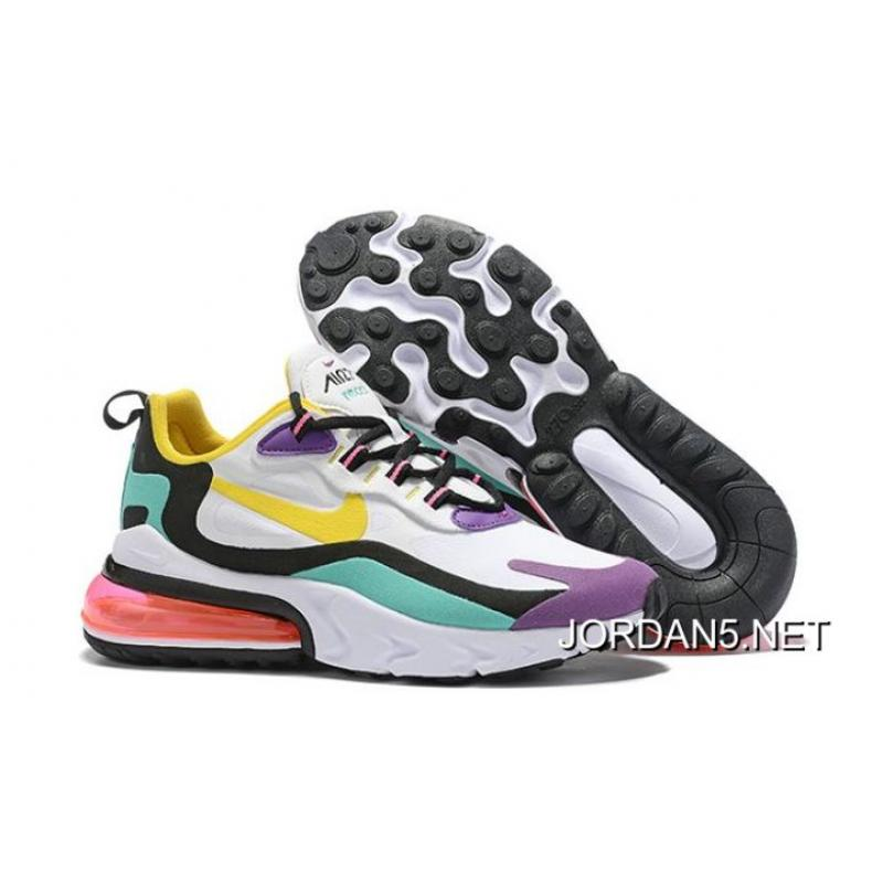 Espíritu Por qué no Hacer  Men Nike Air Max 270 React Running Shoes SKU:94712-409 Latest , Jordan Shoes,  Nike Shoes