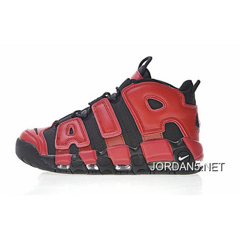 Nike Air More Uptempo QS Black Red 819151-001 Super Deals ...