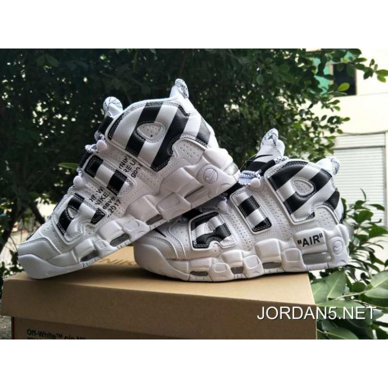 "bandera nacional herir Caliza  Off-White X Nike Air More Uptempo ""White/Black"" New Style , Jordan Shoes, Nike  Shoes"