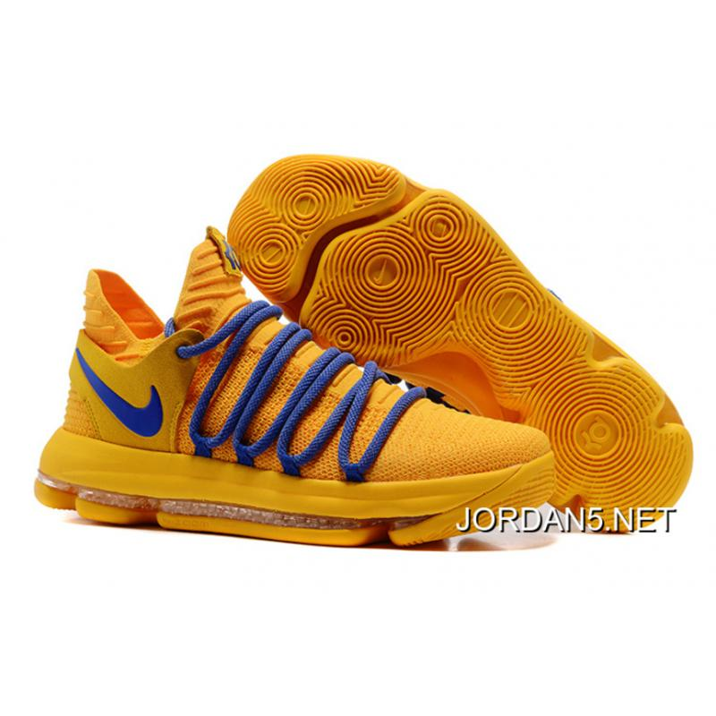 the best attitude dfc19 31019 Nike KD 10 Warrior Yellow Blue Best
