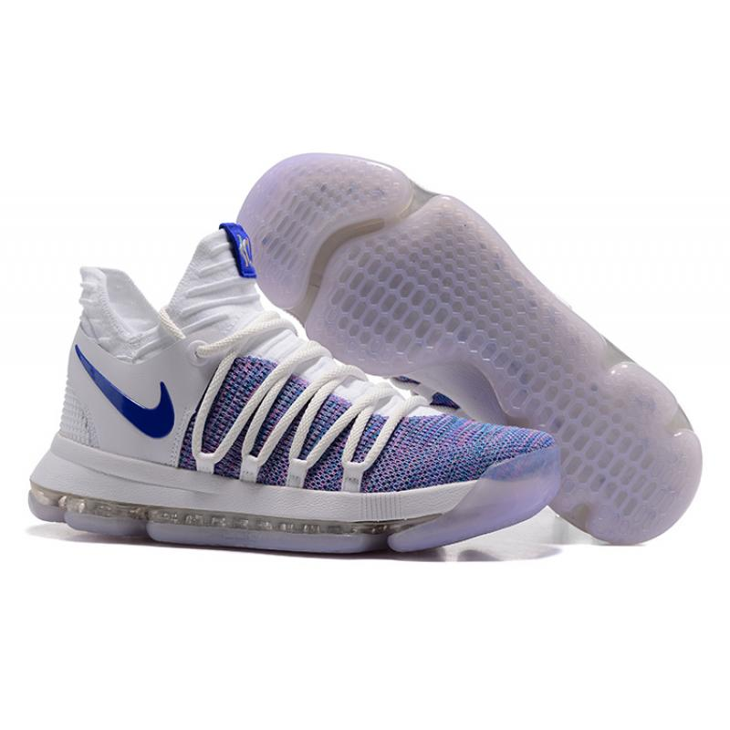 35c62bbb1072 Nike KD 10 White Blue New Release ...