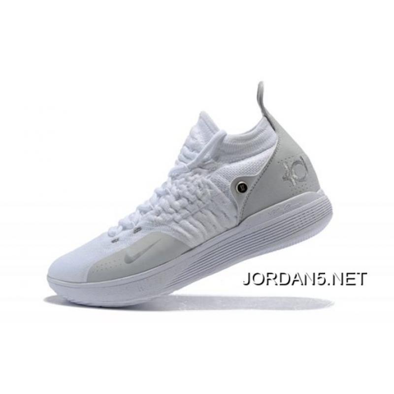 c83a06bc1da9 Where To Buy Men s Nike KD 11 White Chrome-Pure Platinum Basketball Shoes  ...