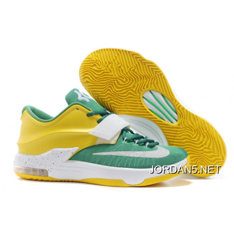 "afa63f8c23db Discount Nike Kevin Durant KD 7 VII ""Draft Day"" Apple Green Yellow Strike  ..."