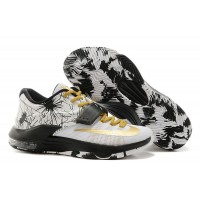 "premium selection d11c5 40151 Latest Nike Kevin Durant KD 7 VII ""Patterns"" White-Black Metallic Gold"