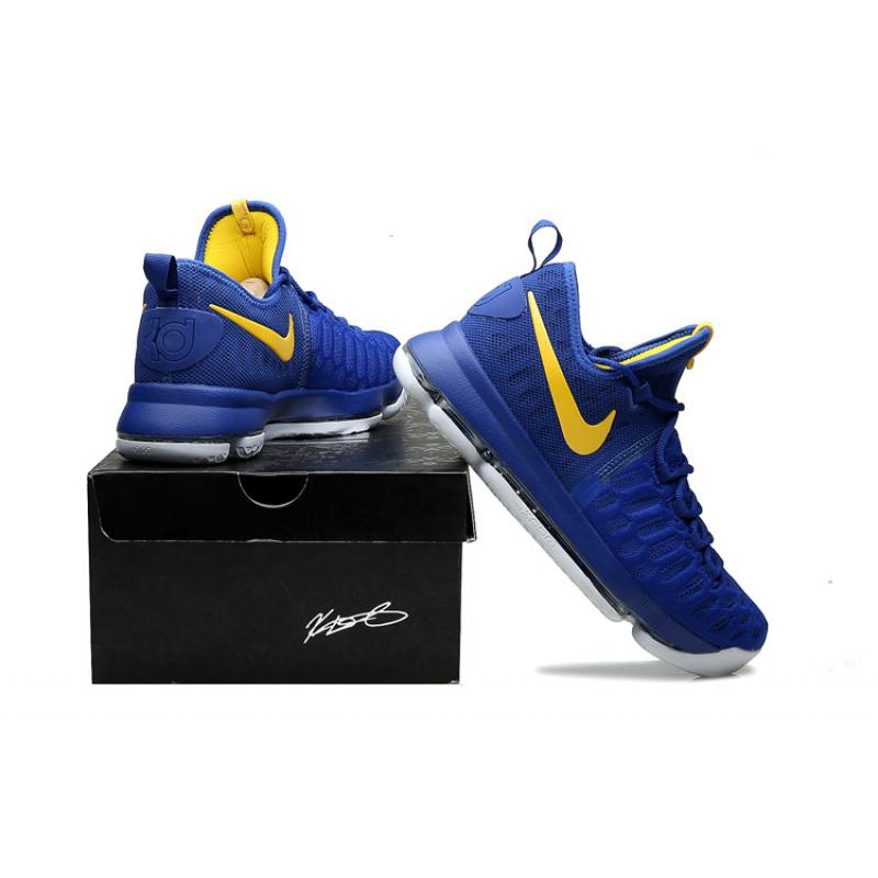 "buy popular 43b50 c118a ... Nike KD 9 ""Golden State Warriors"" Blue Yellow White Copuon"