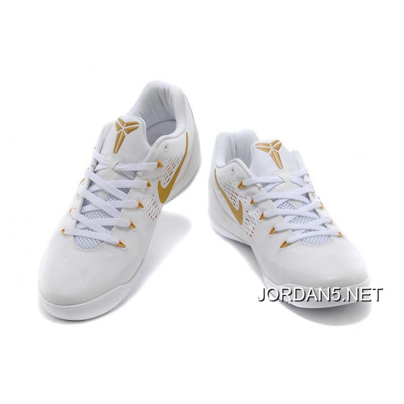 designer fashion ef787 47ee7 ... Nike Kobe 9 Low EM White Gold Free Shipping ...