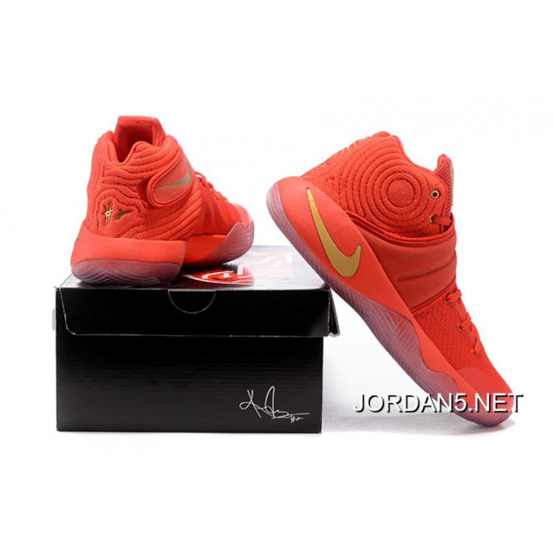 57c1aad3cc57 ... sale nike kyrie 2 gold medal university red metallic gold new year  deals 227c3 59492