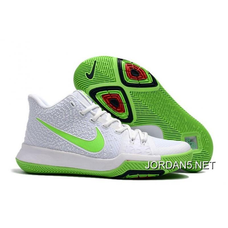 on sale f31db 8cb35 Discount Nike Kyrie Irving 3 Mountain Dew K.A.R.E. Kit White Green ...
