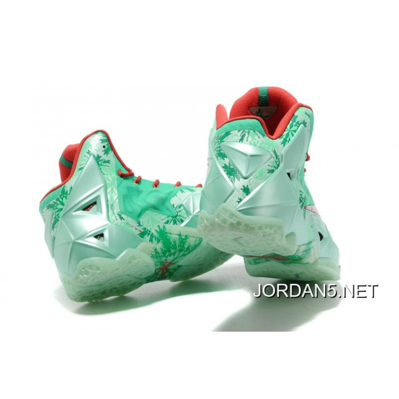 finest selection 41228 db714 ... release date super deals nike lebron 11 christmas green glow light  crimson arctic green e72ce e0bb9
