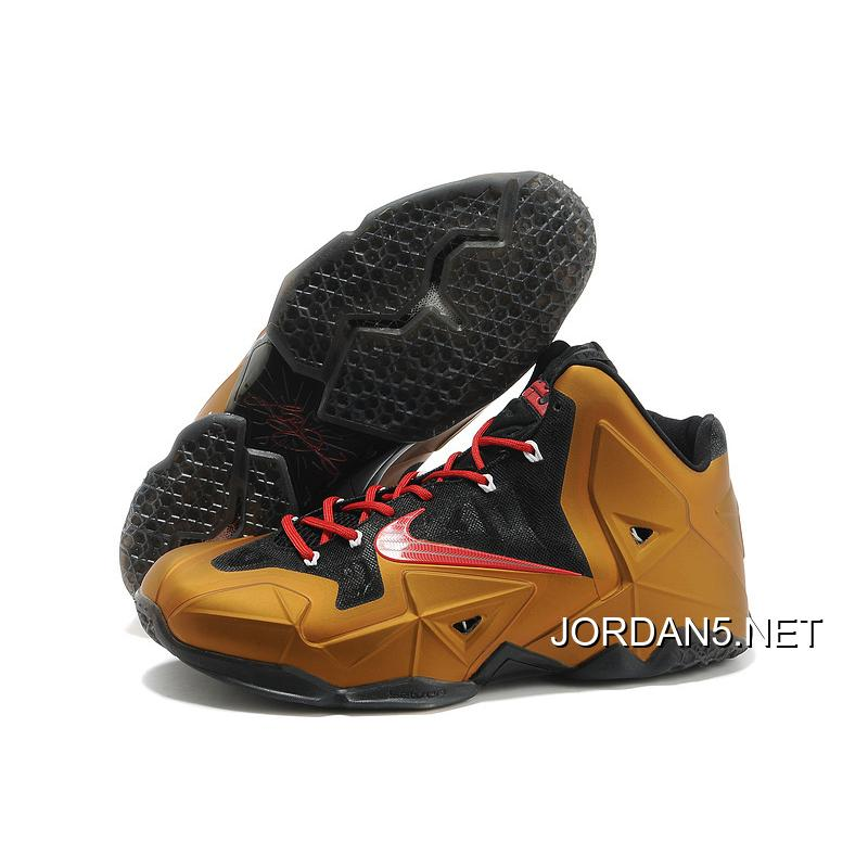 73f55bc9f795 ... coupon top deals nike lebron james 11 metal gold black red 6609e 5fda3