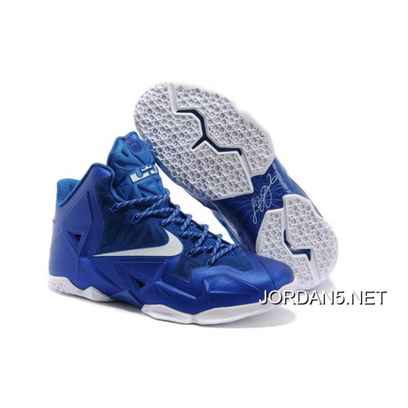 New Release Nike LeBron James 11 Royal Blue/White ...