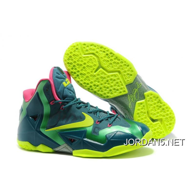 "Top Deals Nike LeBron 11 ""T-Rex"" Dark Sea/Volt-Gamma ..."
