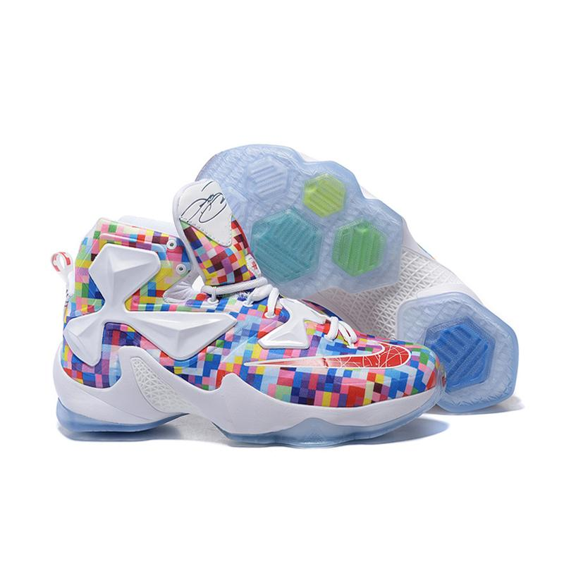 "brand new 6f62d 2285e Outlet Nike LeBron 13 ""Prism"" Multi-Color/University Red-White Basketball  ..."