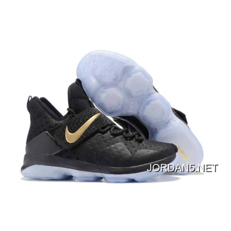 new concept b208e efcc4 New Year Deals Nike LeBron 14 Black Gold