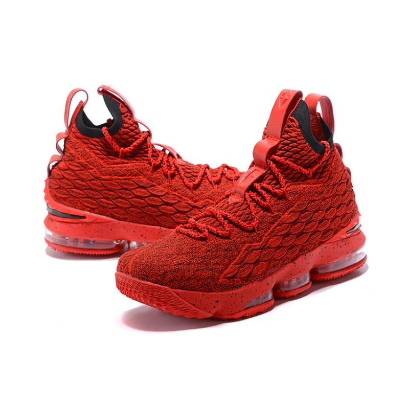 quality design b3d1a 8c9bd Nike LeBron 15 Red And Black New Year Deals
