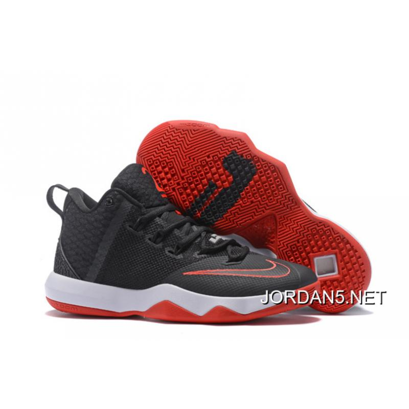 wholesale dealer b6376 e6668 Nike LeBron Ambassador 9 Black Red White Discount ...