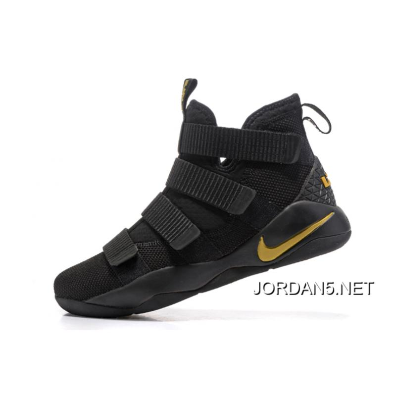 c0761b912f16 ... Nike LeBron Soldier 11 Black Golden Yellow Best ...