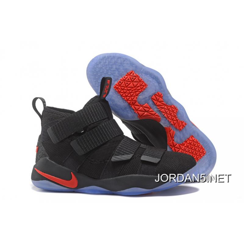 8170636f0c3 Nike LeBron Soldier 11 Black Red For Sale ...