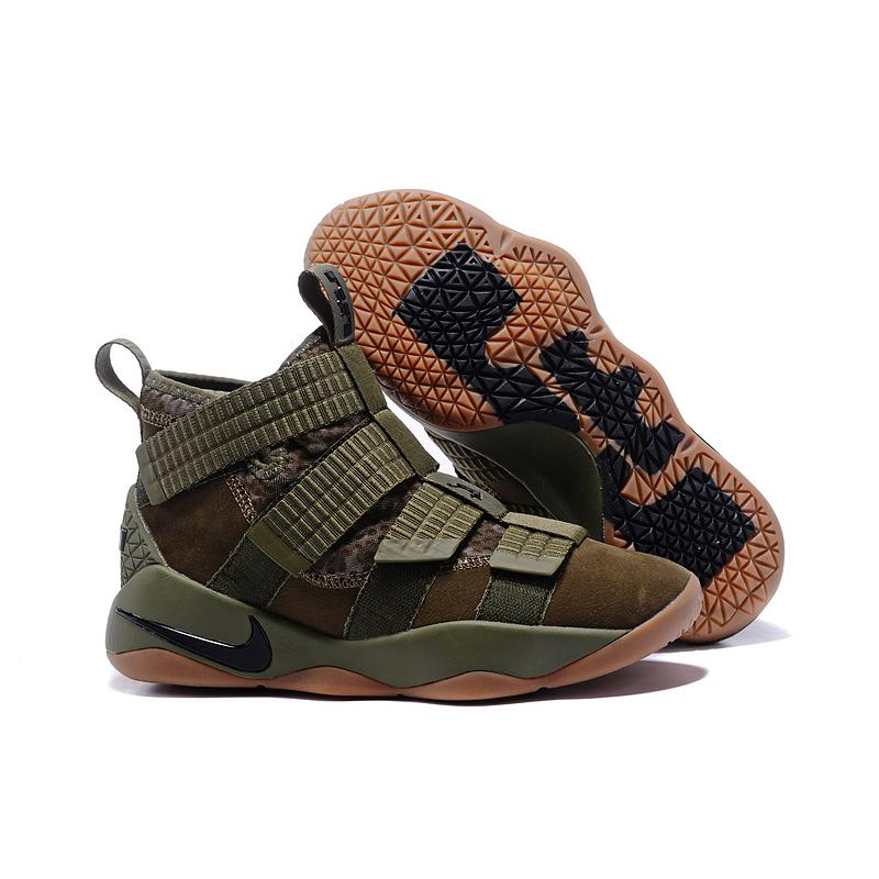 "Perfecto esencia caos  Discount Nike LeBron Soldier 11 SFG ""Green Camo"" Medium Olive/Black-Black ,  Jordan Shoes, Nike Shoes"