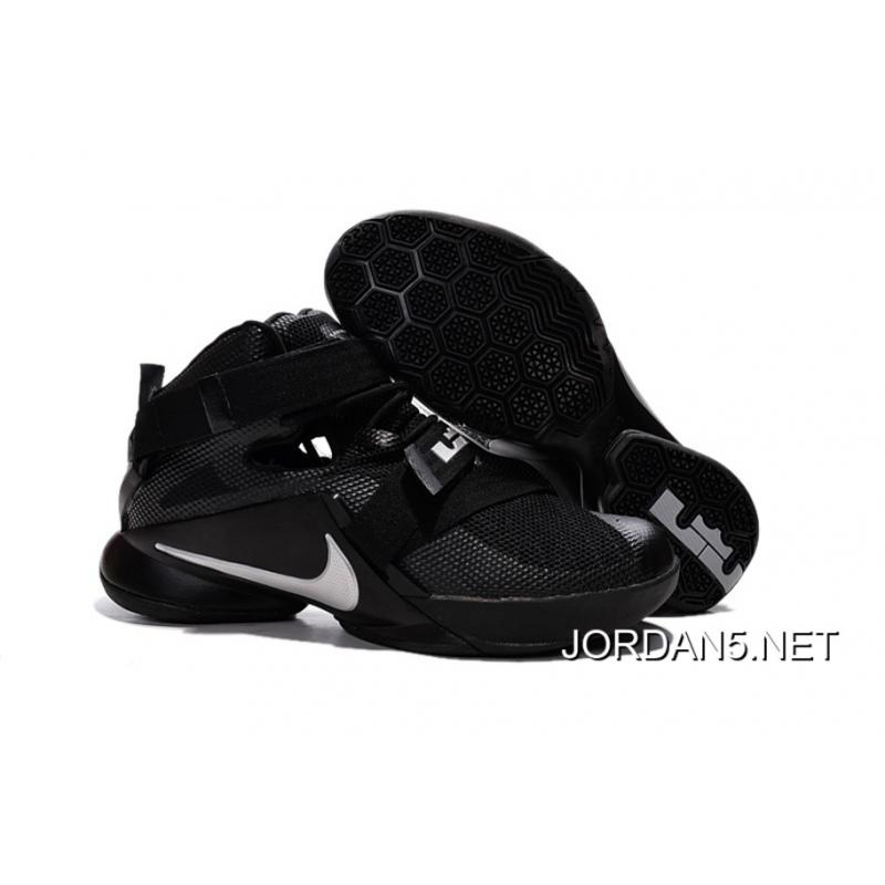"info for 550f9 ecd00 Nike LeBron Soldier 9 ""Blackout"" All Black Basketball Shoe New Style"