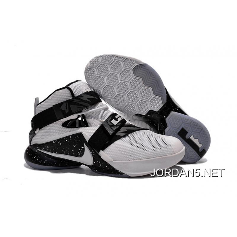 fdd97fd48c7 Nike LeBron Soldier 9 White Black Basketball Shoe For Sale ...